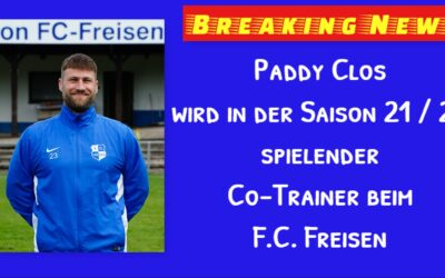 Paddy Clos wird Spieler – Co-Trainer