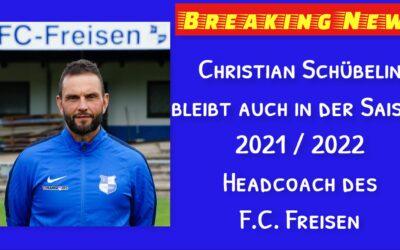 Christian Schübelin bleibt Cheftrainer